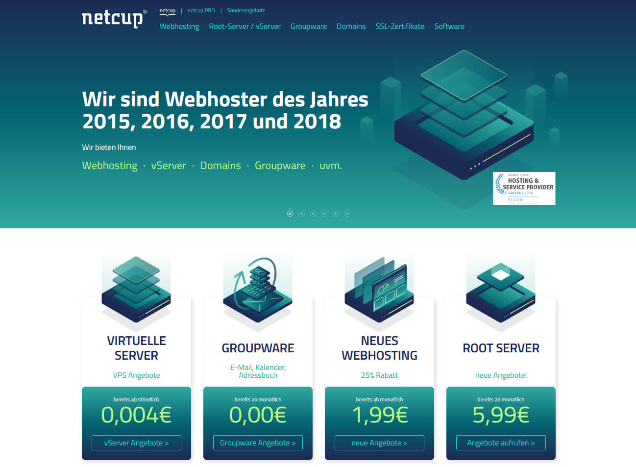 Webhosting bei Netcup