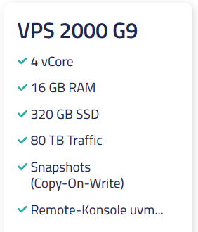 Netcup VPS 2000 G9