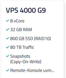 Netcup VPS 4000 G9
